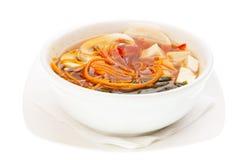 Japansk Soup med seaweed- och Tofuost royaltyfria foton