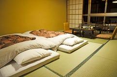 Japansk sovrumstil Arkivfoto