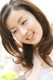 japansk ståendekvinna Arkivbild
