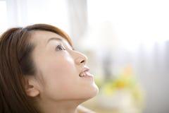 japansk ståendekvinna Royaltyfri Fotografi