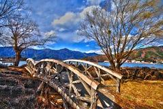 japansk sten för bro Arkivfoto