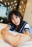 Japansk stil för asiatisk sexig underkläderflickadam arkivfoton