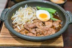 Japansk stil för BBQ-griskött Royaltyfria Bilder