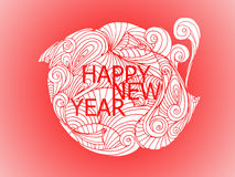 Japansk stil för lyckligt nytt år och kinesisk stil Royaltyfri Fotografi