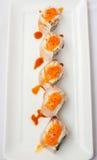Japansk sushi för rulle för kokkonstlaxnigiri Arkivbild