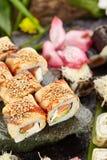 Japansk sushiuppsättning Fotografering för Bildbyråer