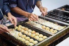 Japansk takoyaki Fotografering för Bildbyråer
