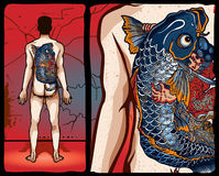 japansk tatuering för design Royaltyfria Bilder