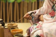 Japansk teaceremoni Fotografering för Bildbyråer
