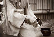 Japansk teaceremoni Arkivfoto