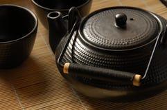 japansk teapot arkivfoto