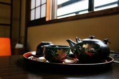 Japansk Teapotuppsättning Royaltyfria Bilder
