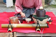 Japansk teceremoni Fotografering för Bildbyråer