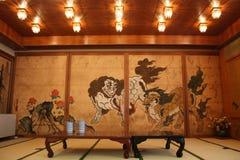 Japansk teckning och tatami Royaltyfri Fotografi