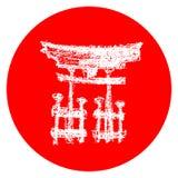 Japansk temaillustration royaltyfri illustrationer