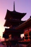 Japansk tempel (Kiyomizu-dera) Royaltyfria Bilder