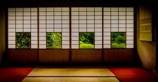 Japansk tempel Unryu i kyoto Arkivbild