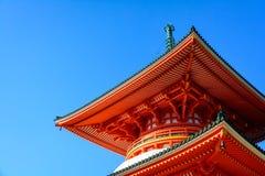 Japansk tempeldetalj Arkivbilder