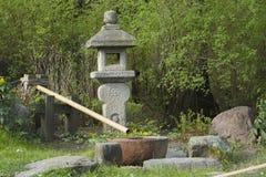 Japansk trädgård i Moskva arkivbilder