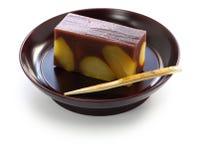 Japansk traditionell confection, yokan kurimushi arkivfoton