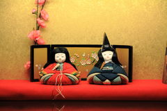 Japansk traditionell docka för Hina docka Arkivfoton
