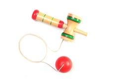 Japansk traditionell leksak - kendama Arkivfoto