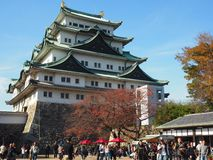 Japansk traditionell slott arkivfoton