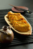 Japansk traditionell typ av sushi Inari-zushi Royaltyfria Foton