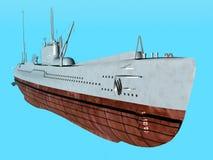 Japansk ubåt Fotografering för Bildbyråer