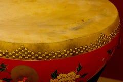 Japansk vals i gult och rött Fotografering för Bildbyråer