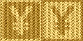 Japansk valuta, yentecken, symbol Arkivfoton