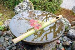 Japansk zenträdgård för avkoppling Royaltyfria Foton