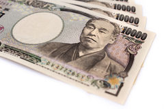 Japanska bankpengar Royaltyfri Fotografi
