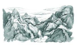 Japanska berg Arkivbilder