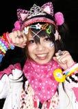 Japanska cosplay fläktar i harajukuen tokyo japan arkivbilder