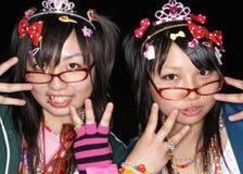 Japanska cosplay fläktar i harajukuen tokyo japan royaltyfri fotografi
