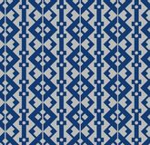 Japanska Diamond Chain Seamless Pattern stock illustrationer