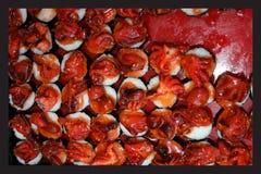 Japanska foods, makro på sushi Arkivfoton