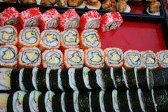 Japanska foods, makro på sushi Arkivbild