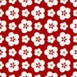 Japanska gulliga stora Cherry Blossom Pattern royaltyfri illustrationer
