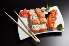 japanska havs- sushi Royaltyfri Bild