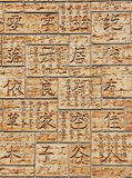 japanska hieroglyphs Arkivbild