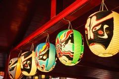 Japanska lampor Arkivbild