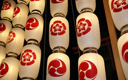 japanska lyktor royaltyfria foton