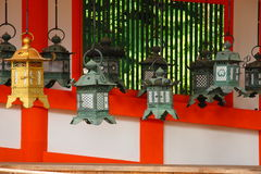 japanska lyktor Royaltyfri Fotografi