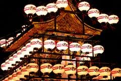 Japanska lyktor i Takayama, Kyoto Arkivbild