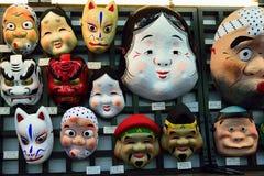 japanska maskeringar Arkivfoto