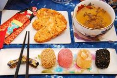 Japanska mochikurabekakor och ricesmällare Arkivfoto