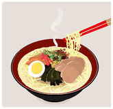 japanska nudlar ramen stock illustrationer