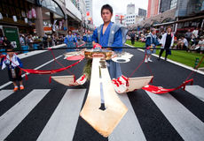 japanska ogiondeltagare för festival Arkivbilder